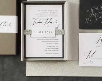 modern wedding invitations by beaconlane on etsy