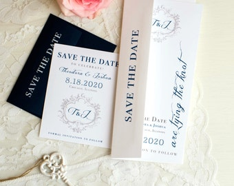 Red Wedding Save the Dates Modern Wedding Save the Date | Etsy