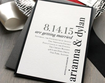 modern wedding invitations wedding invitation urban chic etsy