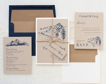Rustic Mountain - Wedding Invitation - Sample