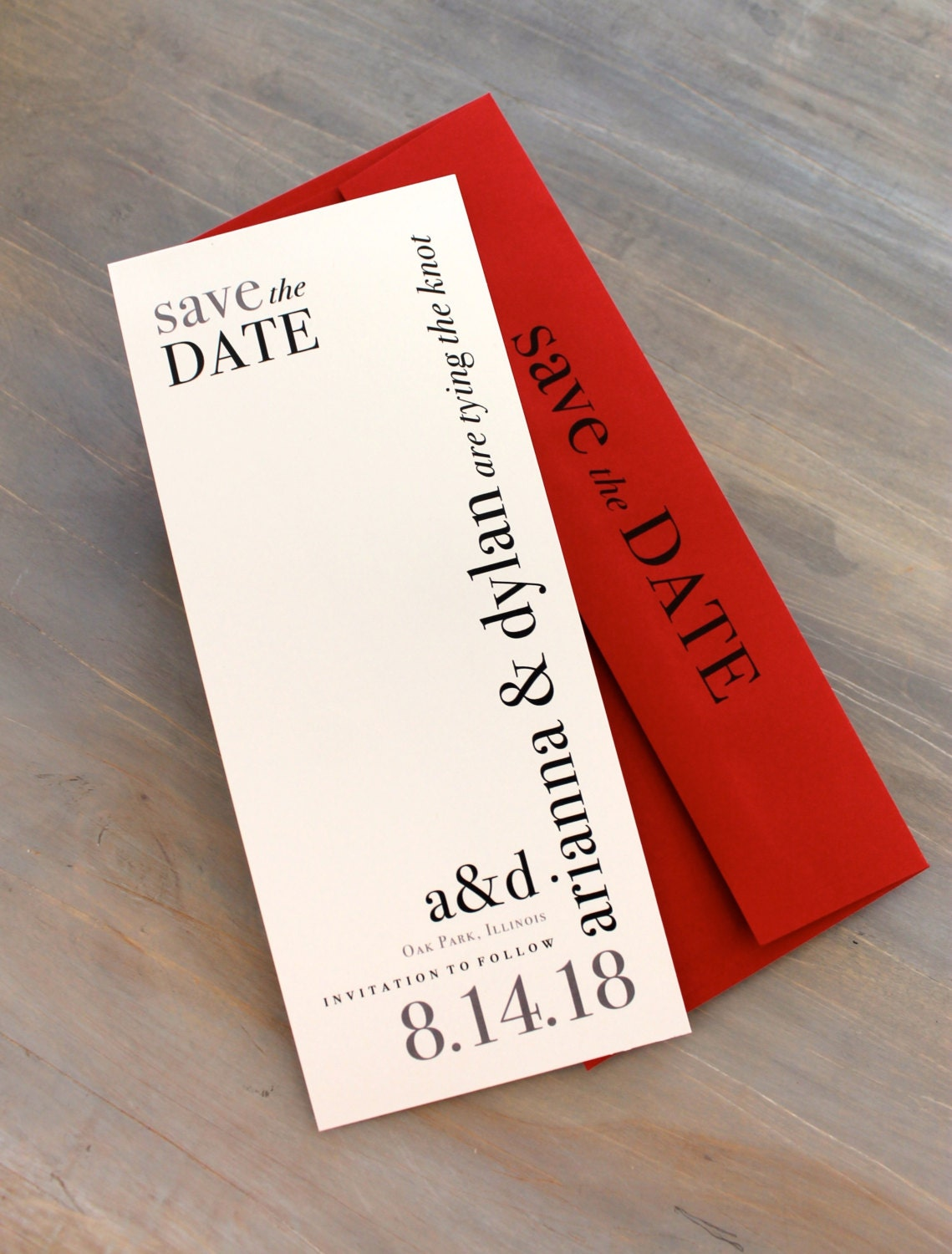 Modern Save the Dates Urban Chic Wedding Save the Date Cards | Etsy