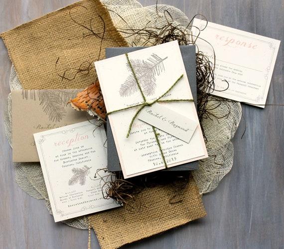 Wedding Images For Invitations: Rustic Elegant Wedding Invitations Peach Wedding