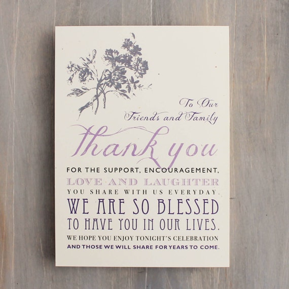 Wedding Thank You Cards Signs For A Reception Table Top Includes Customizable Wording Paper Ink Colors Font Styles 5x7 In Size