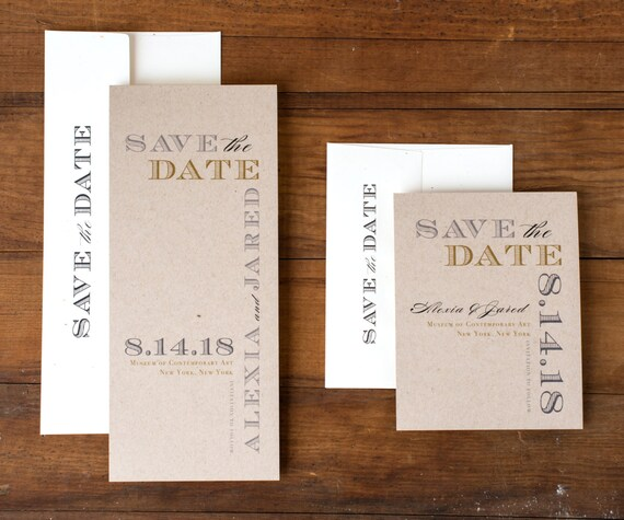 Farm Wedding Save the Date Farm Chic Save the Dates Taupe and Gold Save the Date Brown Winery Wedding Save the Date Cards
