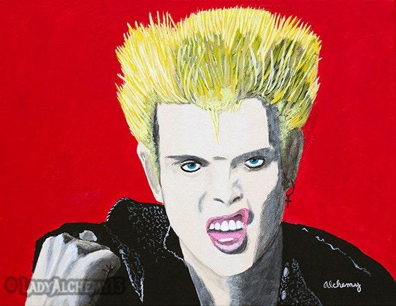 White Wedding Billy Idol.Billy Idol Rebel Yell White Wedding 80s Punk Rock Portrait Signed Print Of Original Painting Surreal Dark Jewel Tones Art By Ladyalchemy13