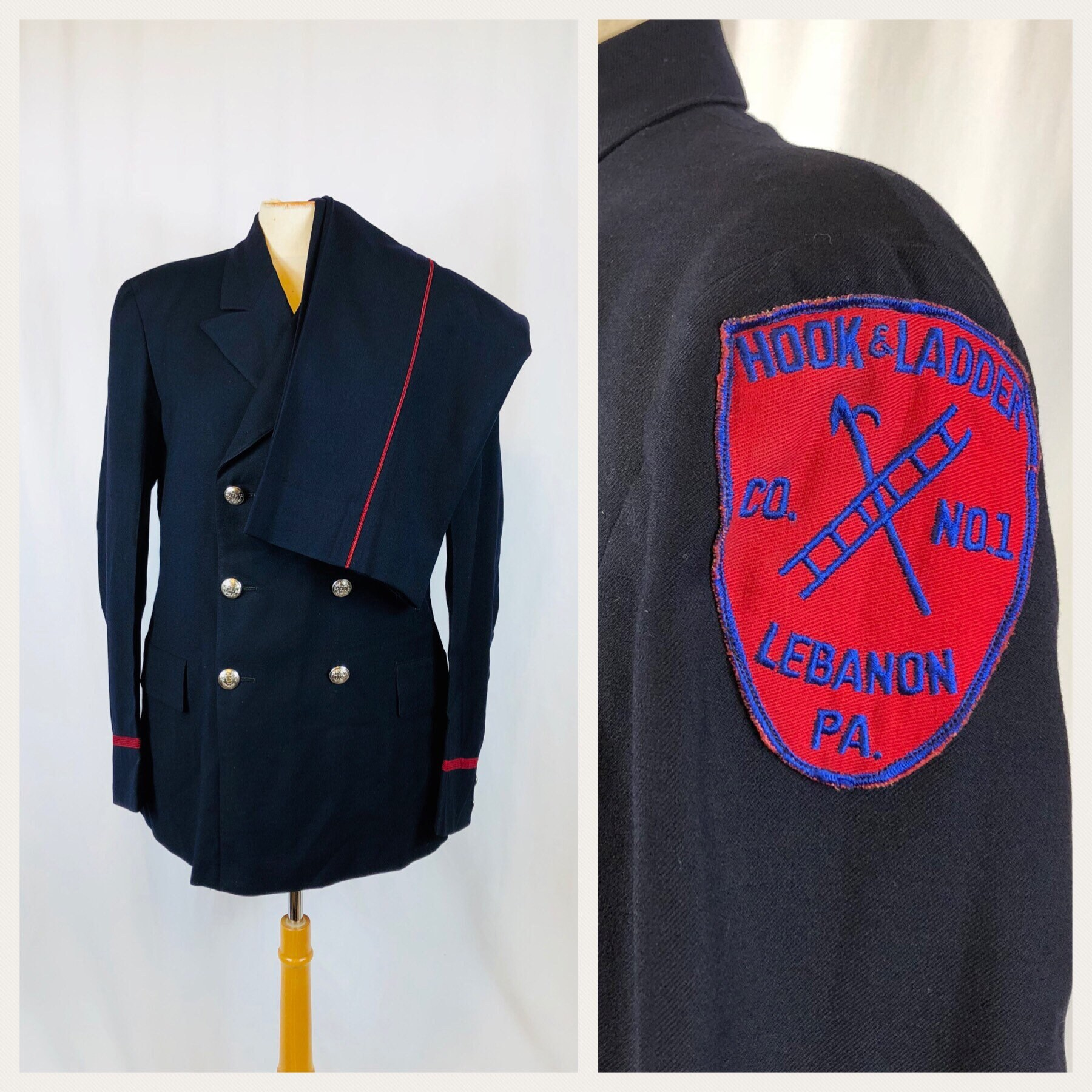 4d3afaa8 1960s Vintage Firefighter Fireman Uniform Suit Fire Department | Etsy