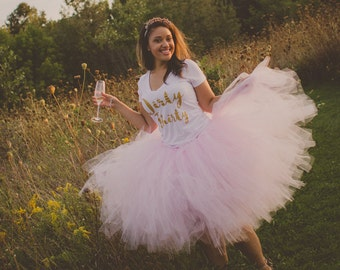 "Light Pink Adult Tutu for waist up to 34 1/2"" great for Halloween, Birthdays, Dance and Bachelorette parties"
