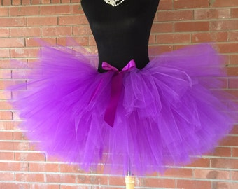 "Purple Adult Tutu for waist 35"" up to 45"" great for Halloween, Birthdays, Dance and Bachelorette parties"