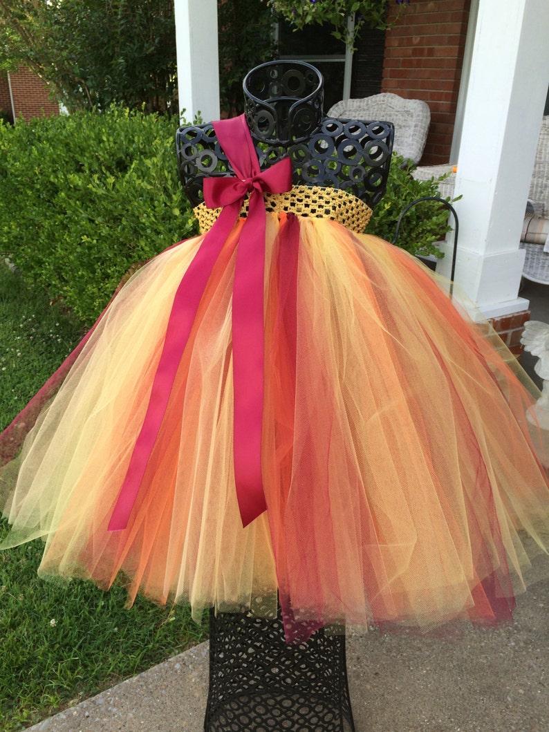 Autumn Sunrise  Fall Flower Girl Tutu Dress Shabby Chic Wedding Rustic Wedding Country Wedding Fall weddings fall theme weddings