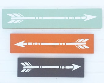Arrow Set . Wooden Nursery Arrows . Arrow Decor .Tribal Kids . Mint. Grey . Woodland .Tribal Nursery . Painted Arrow . Wall Art . Arrows
