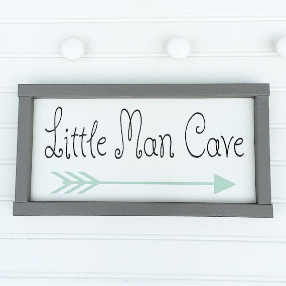 Little Man Cave Nursery Sign