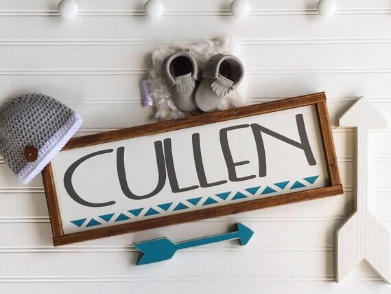 Tribal Nursery Name Sign . Modern Nursery Decor . Custom Baby Sign . Woodland Name Sign . Woodland Nursery Decor . Baby Name Sign