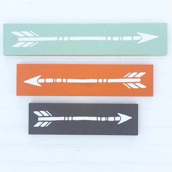 Arrow Set . Wooden Nursery Arrows . Arrow Decor .Tribal Kids . Mint. Grey . Woodland .Tribal Nursery . Painted Arrow . Wall Art . Arrows