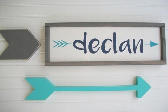 Personalized Baby Name . Name Sign . Tribal Nursery Decor . Custom Baby Sign . Woodland Arrow Name Sign . Woodland Nursery . Baby Name Sign