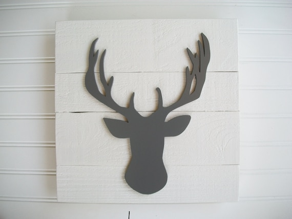 Antler Nursery . Deer Head . Antler Sign . 3D Sign . Hunting Nursery . Lodge .Wood Deer Sign . Antlers . Tribal Nursery Art . Woodland Decor
