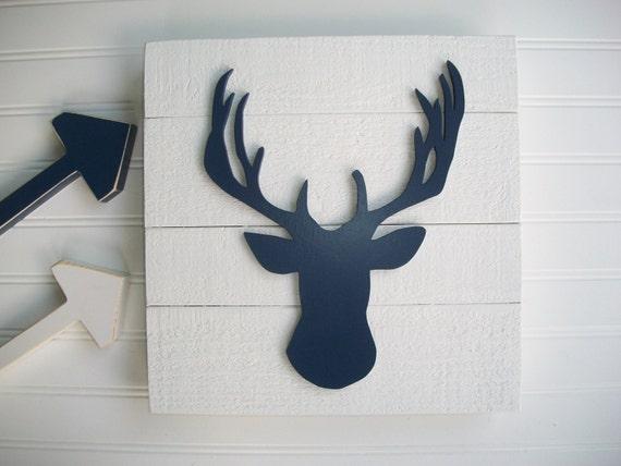 Antler Sign . Deer Head . Antler Nursery . 3D Sign . Country Nursery . Lodge .Wood Deer Sign . Antlers . Tribal Nursery Art . Woodland Decor