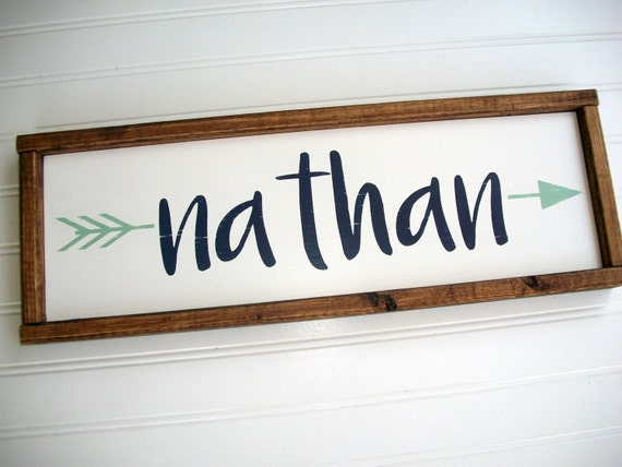 Rustic Name Sign . Tribal Nursery Decor . Custom Baby Sign . Woodland Arrow Name Sign . Woodland Nursery Decor . Baby Name Sign . Rustic