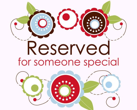 Reserved Listing for Jessica Gonzales