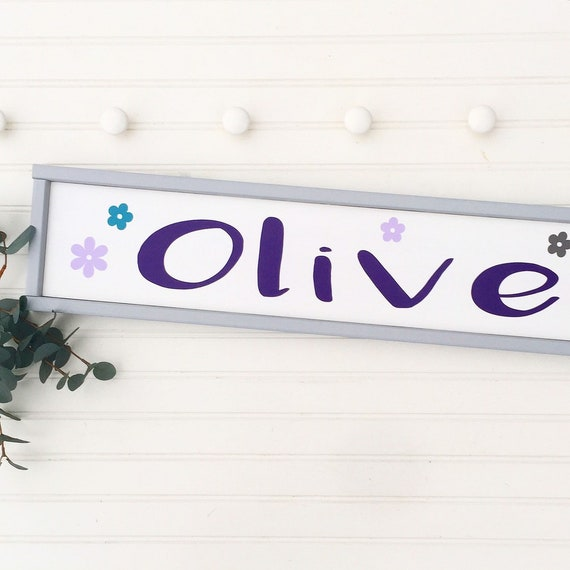 Large Baby Name Sign . Baby Girl . Boho Baby . Floral Name Sign . Woodland Nursery Decor . Nursery Name Sign . Big Girl Room . PBK Brooklyn