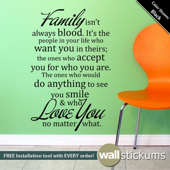 Living Room Wall Quotes: Items Similar To Family & Friends Wall Quote