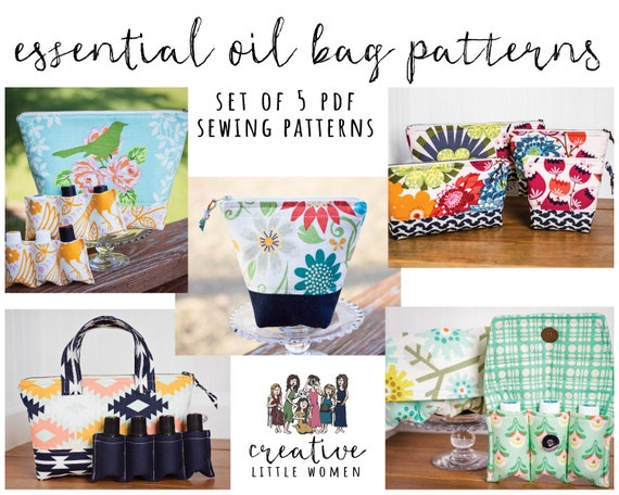 PDF PATTERN for 3 bottle Essential Oil storage essential oil travel gift essential oil case roller bottle bag roller bottle pouch