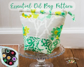 Essential Oil Storage PATTERN, Oil Pouch, Oil Case, Storage for 7 Bottles PDF Sewing Pattern *Permission to Sell Finished Item