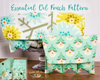 Essential Oil Storage Pouch PATTERN, Oil Storage Case, Oil Pouch, Oil Bag, Holds 3 - 5 Bottles PDF Pattern, Permission to Sell Finished Item