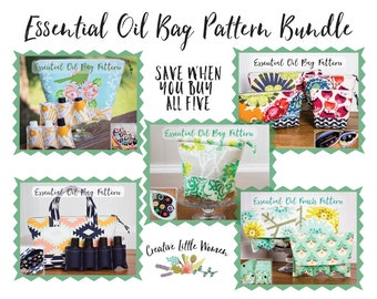 Essential Oil Storage PATTERNS, Set of 5 Essential Oil Bag Pattern Bundle, Save Over 40% Off, * SALE * Permission to sell finished product