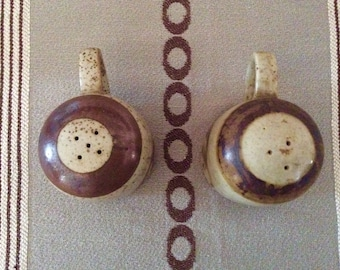 American Pottery Handmade Salt and Pepper Shakers