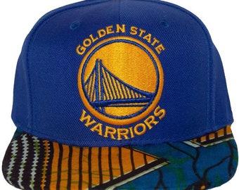 fe0ae771d Golden State Warriors NBA Basketball Oakland Snapback hat African Fabric