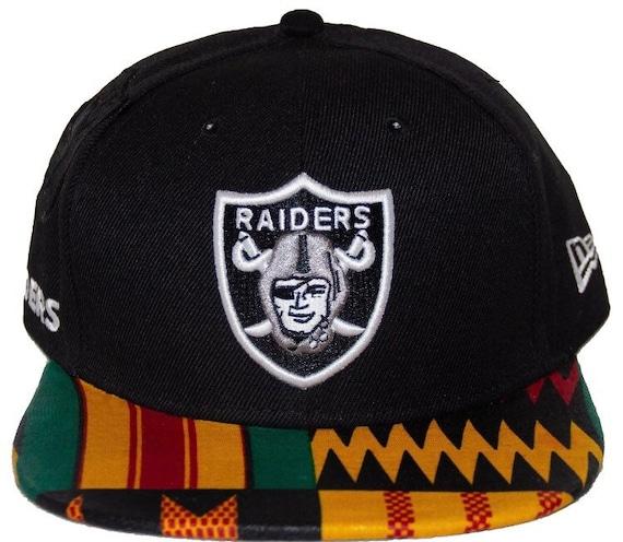 NFL Oakland Raiders Snapback adjustable hat crown w  Kente  04fcd177dc8