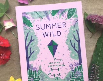 Summer Wild - Plant Zine Comic Risograph Handmade