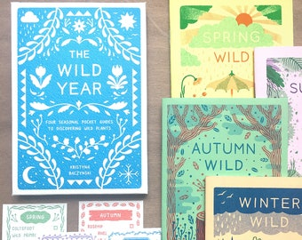 Plant Zine Collection, The Wild Year - 4 x Seasonal Risograph Comics, Boxed Gift