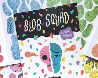 Blob Squad - Character Sketchbook, Drawing Zine