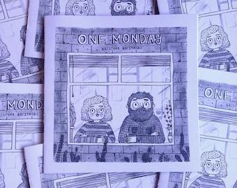 One Monday - Comic, zine, diary comic, perzine, hourly comic day
