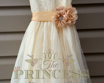 d04a3019c flower girl dress, flower girl dress champagne, flower girl dress lace, flower  girl dress rustic, vintage wedding, wedding dress,flower girl