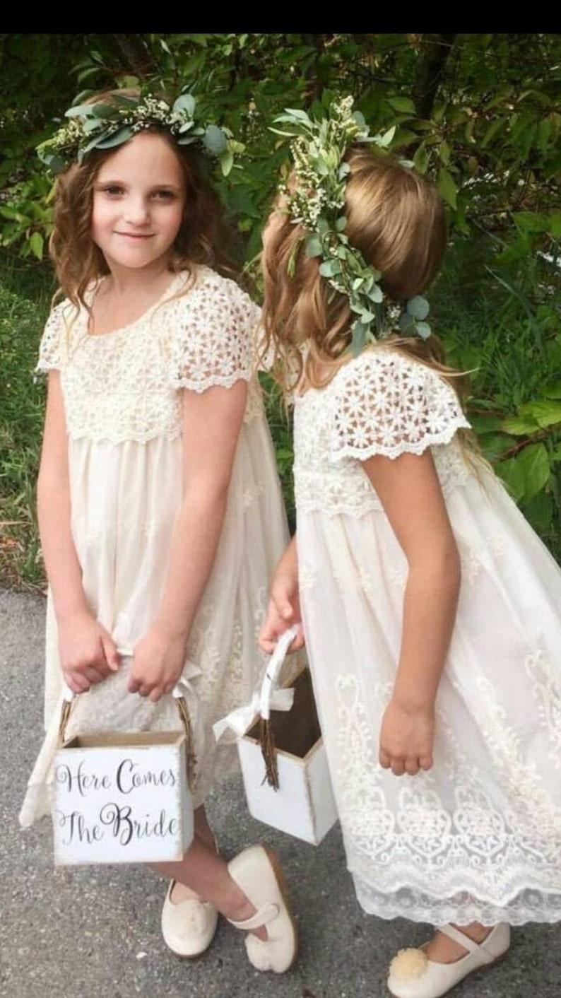 b7e67c9c662a5 Off white flower girl dress baby dress vintage flower girl | Etsy