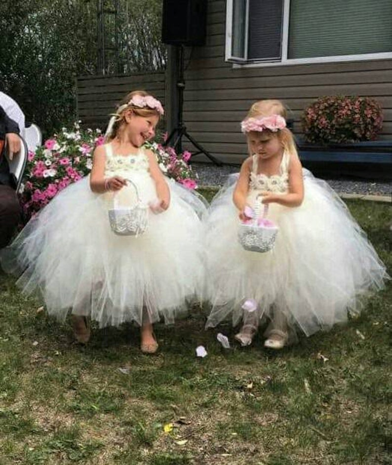 d455a31393 Ivory flower girl dress ivory tutu dress ivory dress ivory | Etsy