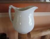 english ironstone pitcher, maddock co england, mint, gorgeous