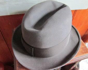 3 X beaver stetson hat dark gray gorgeous stetson fedora 7 1 4 4d6704c1c713