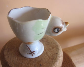 chicken egg cup, vintage egg cups