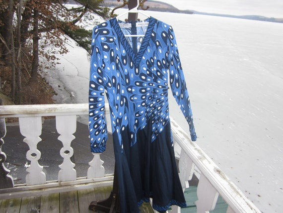 SALE...vintage alverardo bessi dress, size med cou