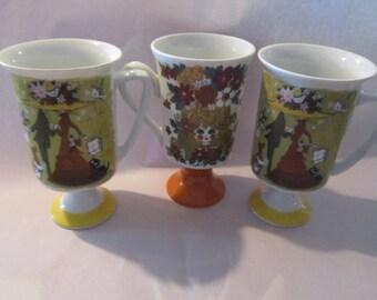 three pia mugs courtship 5th avenue vintage pia mugs