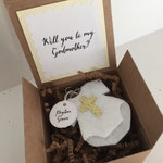 Will you be my Godmother, be my Godparent, baptism, baby ornament, be my Godfather
