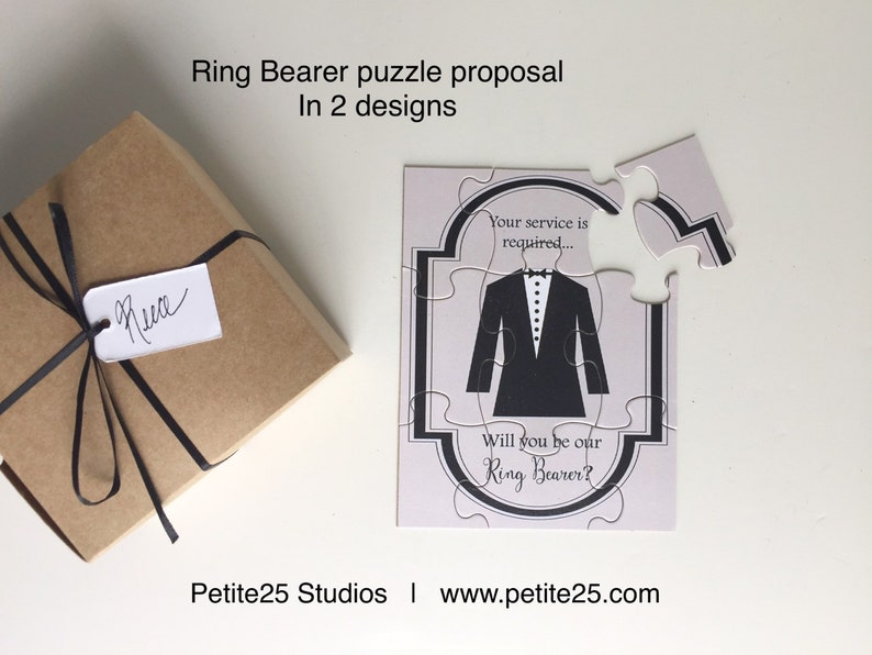 PUZZLE Ring Bearer Will you be my Ring Bearer Time to Suit image 0