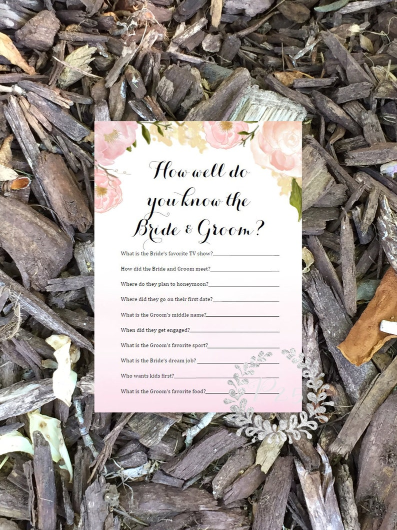 Instant Download How well do you know the bride & groom image 0