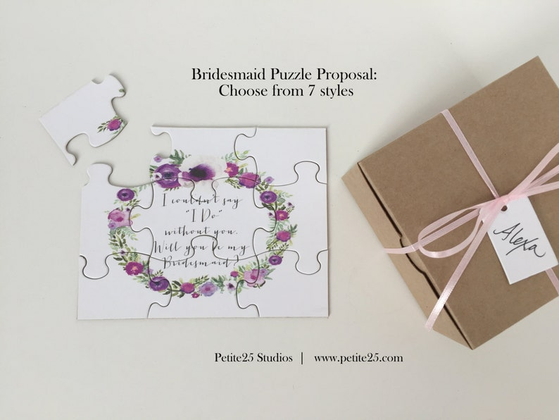 PUZZLE Will You Be my Bridesmaid proposal Maid of Honor image 0