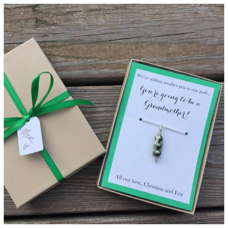 Another Pea to our Pod Necklace Pregnancy announcement baby image 0