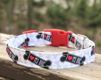 Heart Dog Collar, Love Dog Collar, Bone Dog Collar, I Love My Dog Collar, Red Dog Collar, Black Dog Collar, Boy Dog Collar, Girl Dog Collar