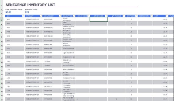 Lipsense Lipboss Distributor Full Bookkeeping Spreadsheet Recordkeeping V3 0 Microsoft Excel Google Sheets